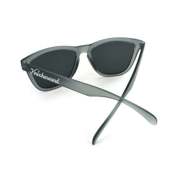 Frosted Grey Premium Sunglasses with Polarized Smoke Lenses by Knockaround