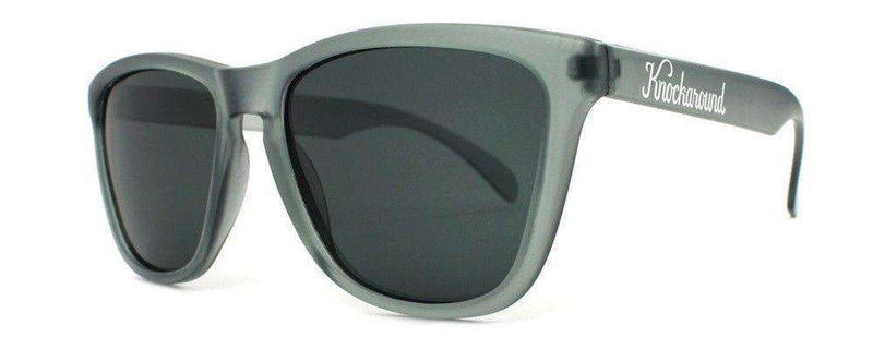 Sunglasses - Frosted Grey Premium Sunglasses With Polarized Smoke Lenses By Knockaround