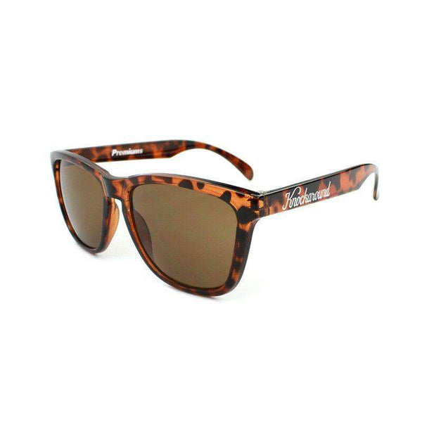 Glossy Tortoise Shell Premium Sunglasses with Amber Lenses by Knockaround