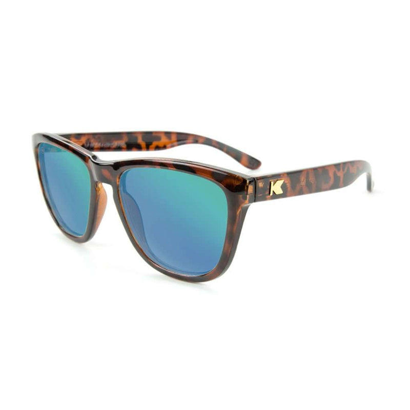 Glossy Tortoise Shell Premiums with Green Moonshine Lenses by Knockaround