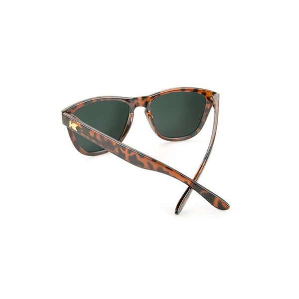 Sunglasses - Glossy Tortoise Shell Premiums With Green Moonshine Lenses By Knockaround