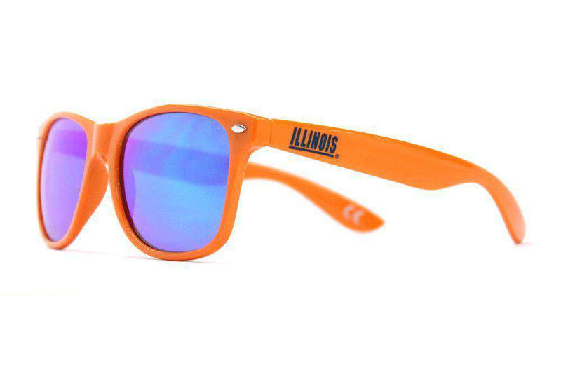 Sunglasses - Illinois Throwback Sunglasses In Orange By Society43