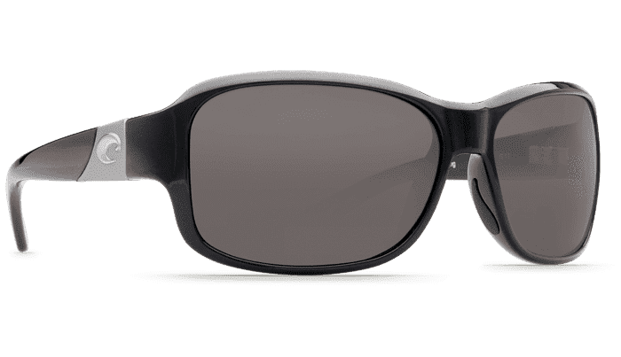 Inlet Black Sunglasses with Gray 580P Lenses by Costa Del Mar
