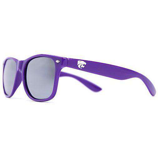 Sunglasses - Kansas State Throwback Sunglasses In Purple By Society43