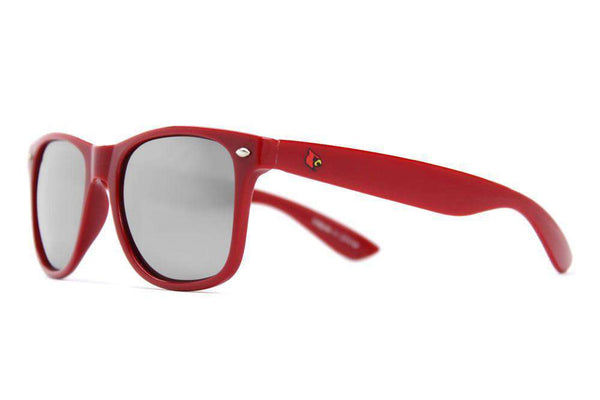 Sunglasses - Louisville Throwback Sunglasses In Red And Black By Society43 - FINAL SALE