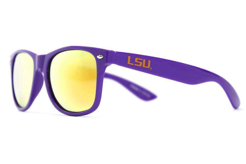 Sunglasses - LSU Throwback Sunglasses In Purple By Society43 - FINAL SALE