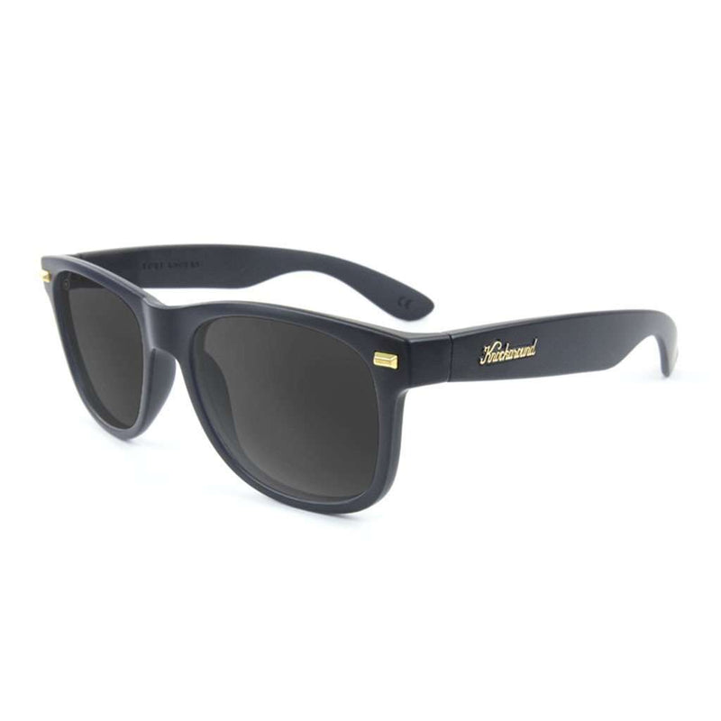 Sunglasses - Matte Black Fort Knock With Polarized Smoke Lenses By Knockaround
