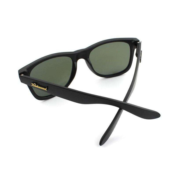 Matte Black Fort Knocks Sunglasses with Moonshine Lenses by Knockaround