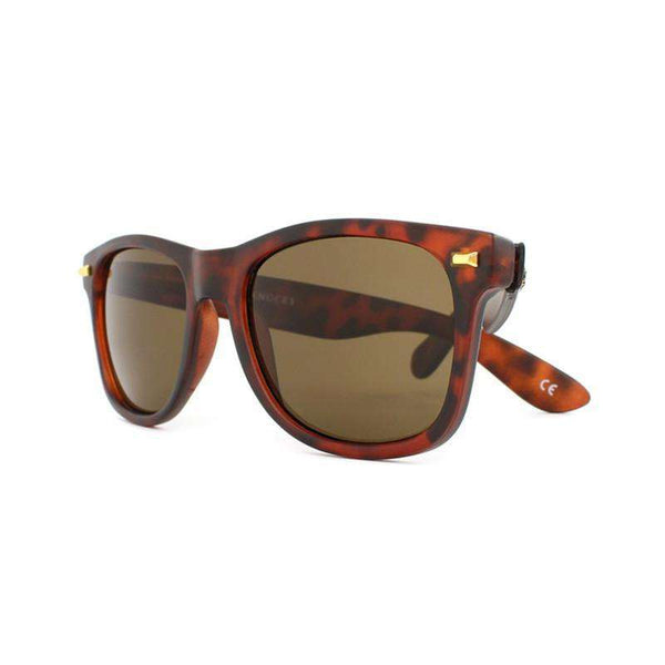 Matte Tortoise Shell Fort Knocks Sunglasses with Amber Lenses by Knockaround