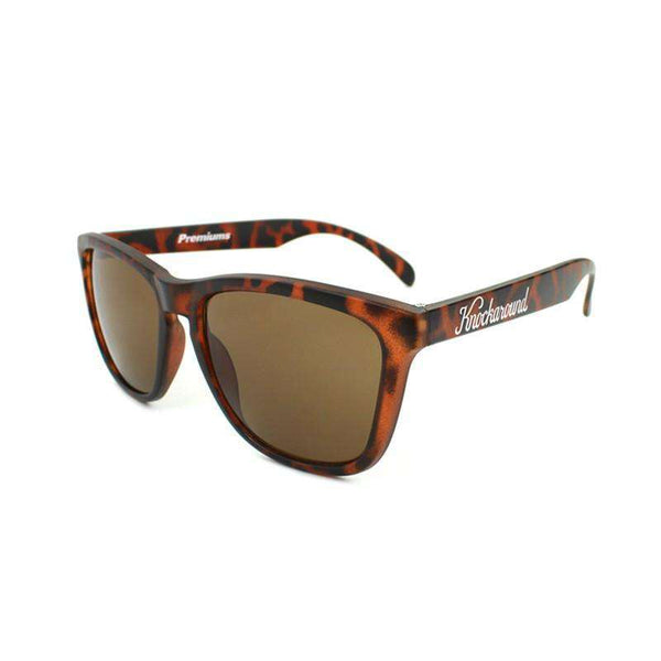 Sunglasses - Matte Tortoise Shell Premium Sunglasses With Amber Lenses By Knockaround