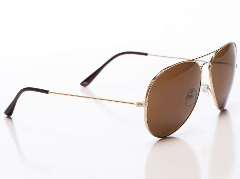Sunglasses - Mavericks Sunglasses In Gold Frame With Dark Savannah Lens By Red's Outfitters
