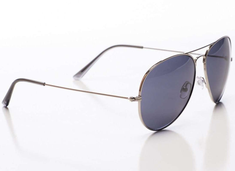 Sunglasses - Mavericks Sunglasses In Silver Frame With Dark Savannah Polarized Lens By Red's Outfitters