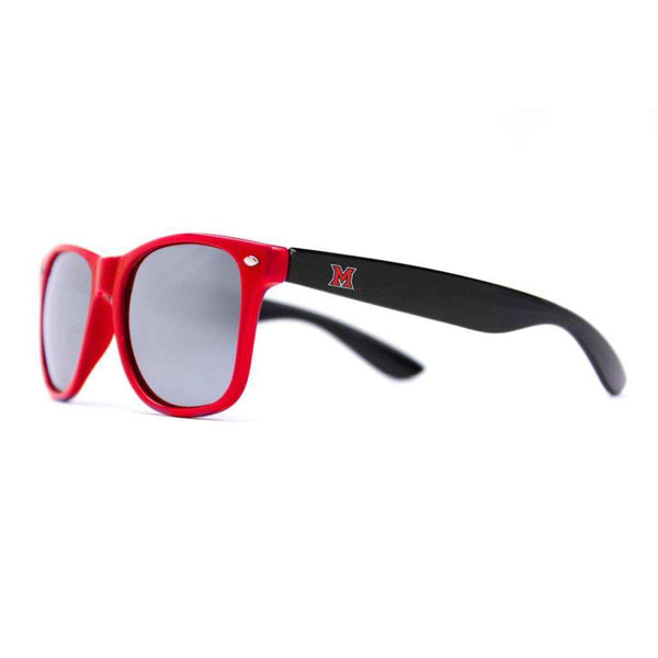 Miami University Throwback Sunglasses in Red and Black by Society43