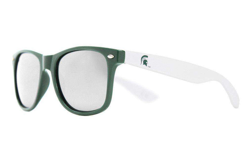 Sunglasses - Michigan State Throwback Sunglasses In Green And White By Society43