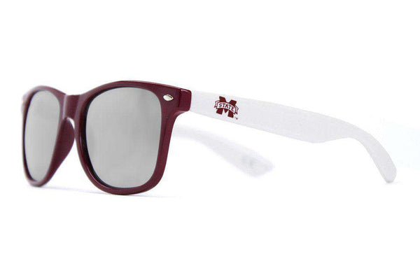 Sunglasses - Mississippi State Throwback Sunglasses In Maroon And White By Society43