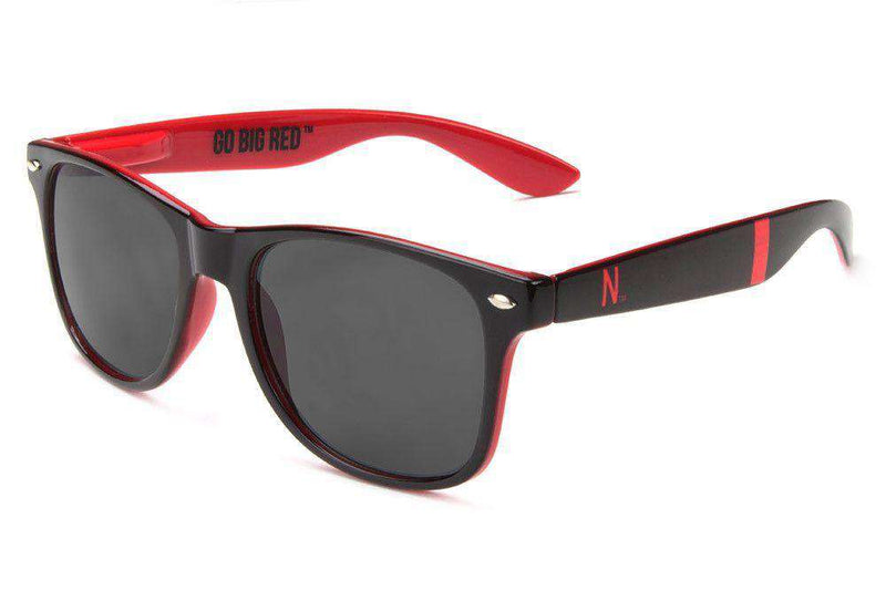 Sunglasses - Nebraska Cornhuskers Throwback Sunglasses In Black And Red By Society43