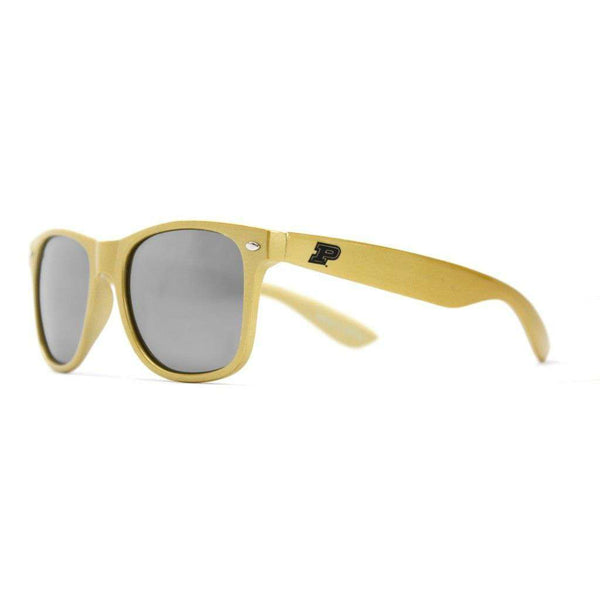 Sunglasses - Purdue Throwback Sunglasses In Gold By Society43