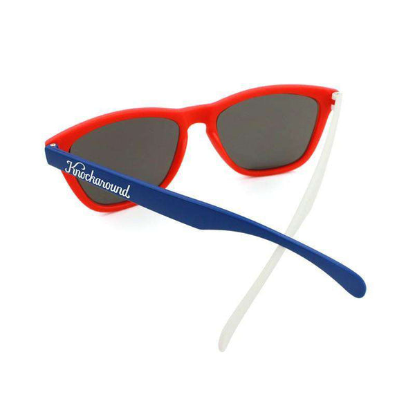 Red, White & Blue Premium Sunglasses with Smoke Lenses by Knockaround