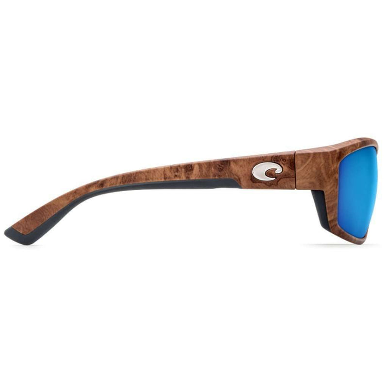 Saltbreak Gunstock Sunglasses with Blue Mirror 580P Lenses by Costa Del Mar