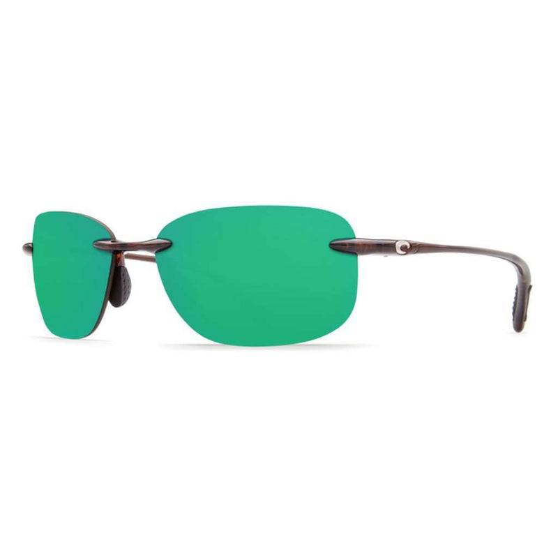 Seagrove Sunglasses in Shiny Tortoise with Green Mirror 580P Lenses by Costa Del Mar