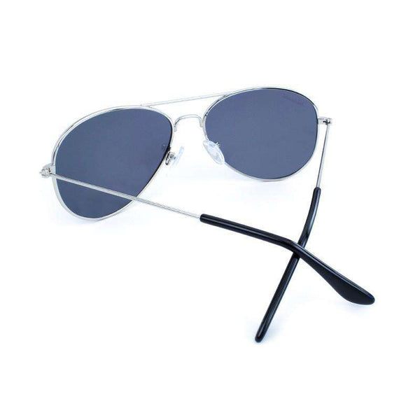 Sunglasses - Silver Mile High Aviators With Polarized Smoke Lenses By Knockaround
