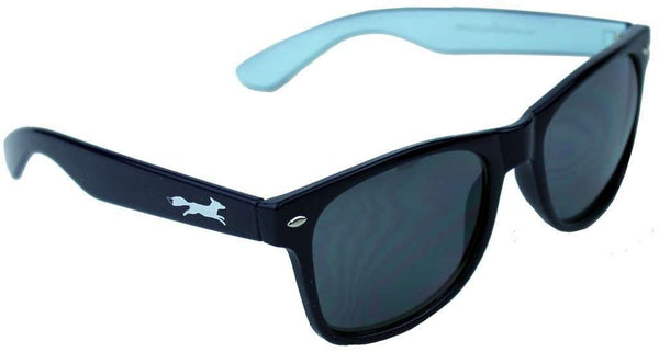 Sunglasses - Sly Fox Two Tone Sunglasses In Navy And Baby Blue By Country Club Prep