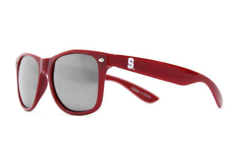 Stanford Throwback Sunglasses in Red by Society43
