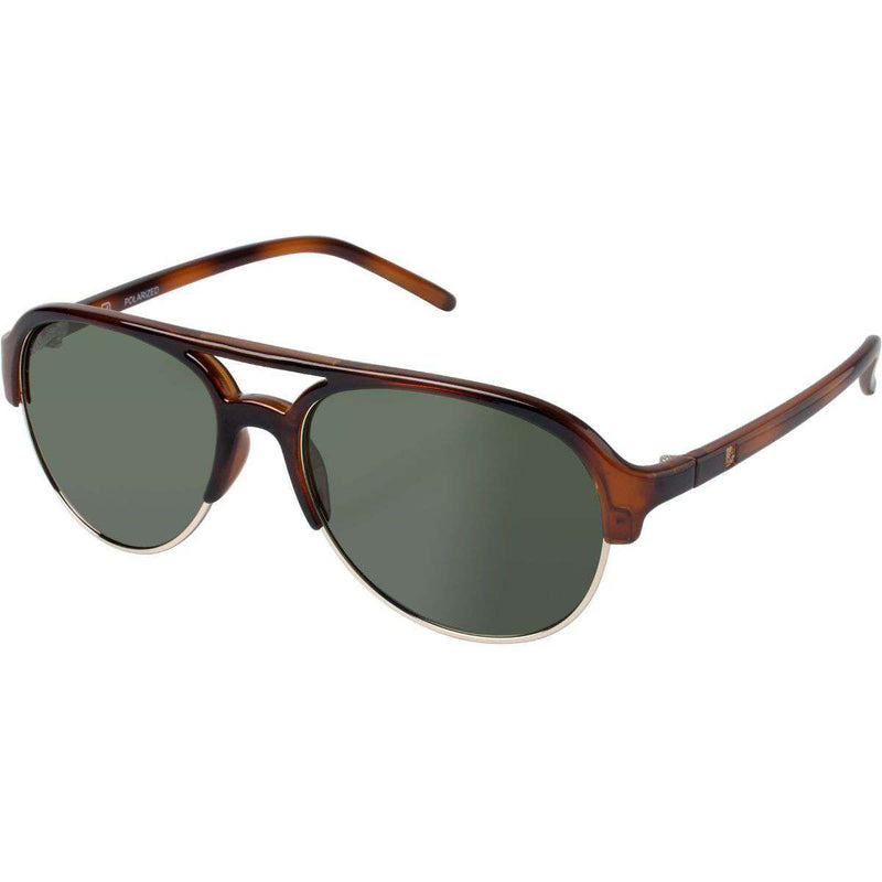 Sunglasses - Sussex Polarized Sunglasses In Tortoise And Gold By Sperry