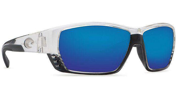 Sunglasses - Tuna Alley Shiny Crystal Sunglasses With Blue Mirror 580P Lenses By Costa Del Mar