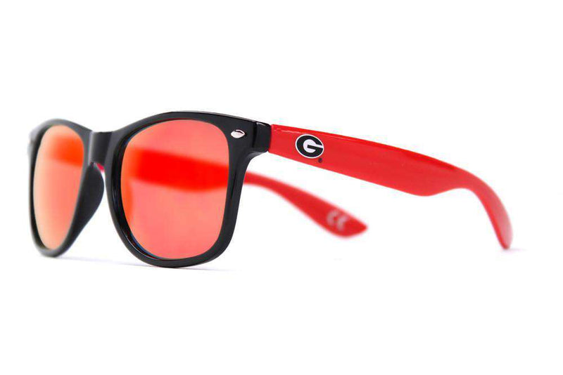 University of Georgia Throwback Sunglasses in Black and Red by Society43