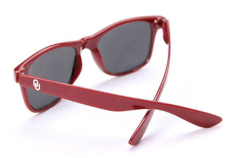 University of Oklahoma Throwback Sunglasses in Red by Society43