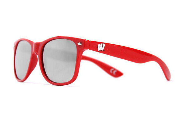 Sunglasses - University Of Wisconsin Throwback Sunglasses In Red By Society43