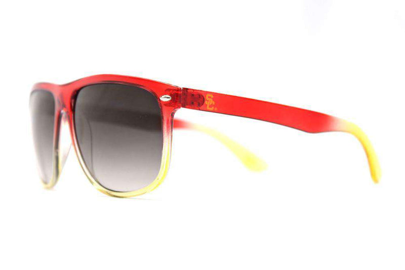 USC Trojans Fade Sunglasses in Cardinal and Gold by Society43