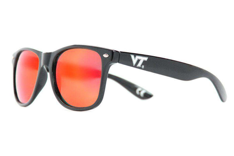 Sunglasses - Virginia Tech Throwback Sunglasses In Black By Society43
