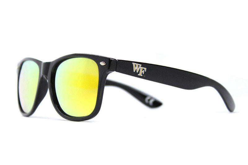Wake Forest Throwback Sunglasses in Black by Society43