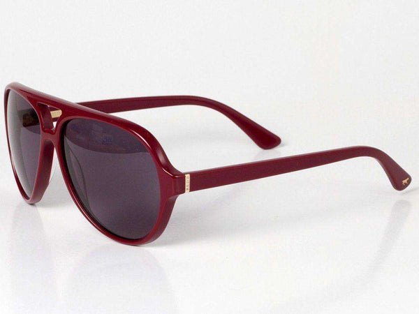 Wallace Sunglasses in Wine Red Shell by Red's Outfitters - FINAL SALE