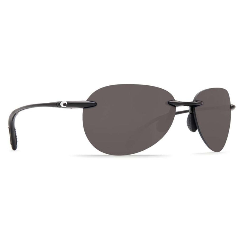 West Bay Sunglasses in Shiny Black with Gray 580P Lenses by Costa Del Mar