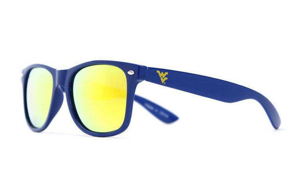 West Virginia Throwback Sunglasses in Blue by Society43