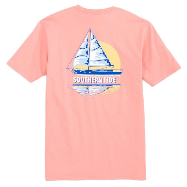 Sunset Sailing Reflection Tee Shirt by Southern Tide