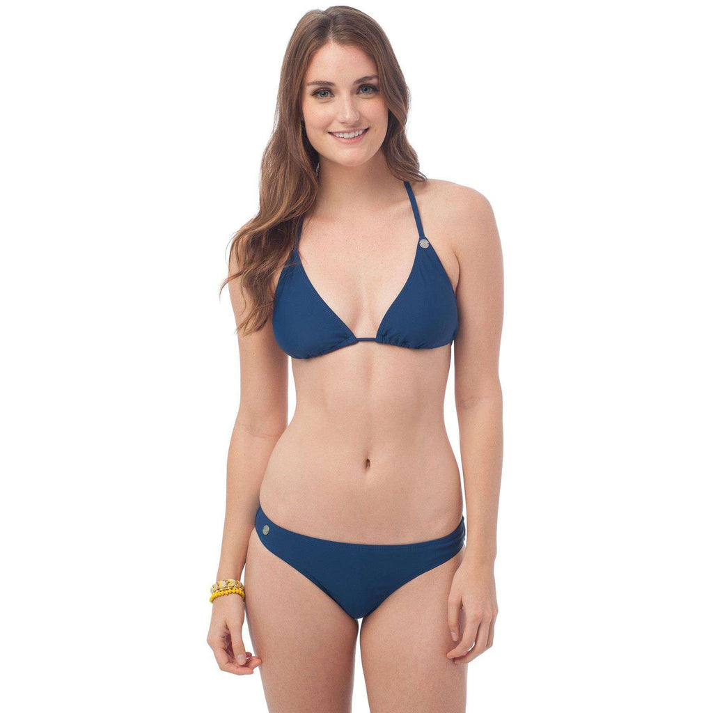 Surfside Bikini Bottom in Yacht Blue by Southern Tide  - 1