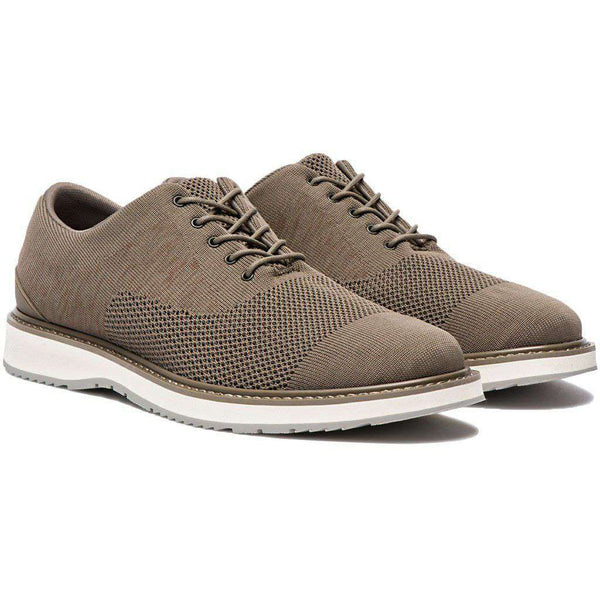 SWIMS Barry Oxford Knit in Khaki Melange & Gray