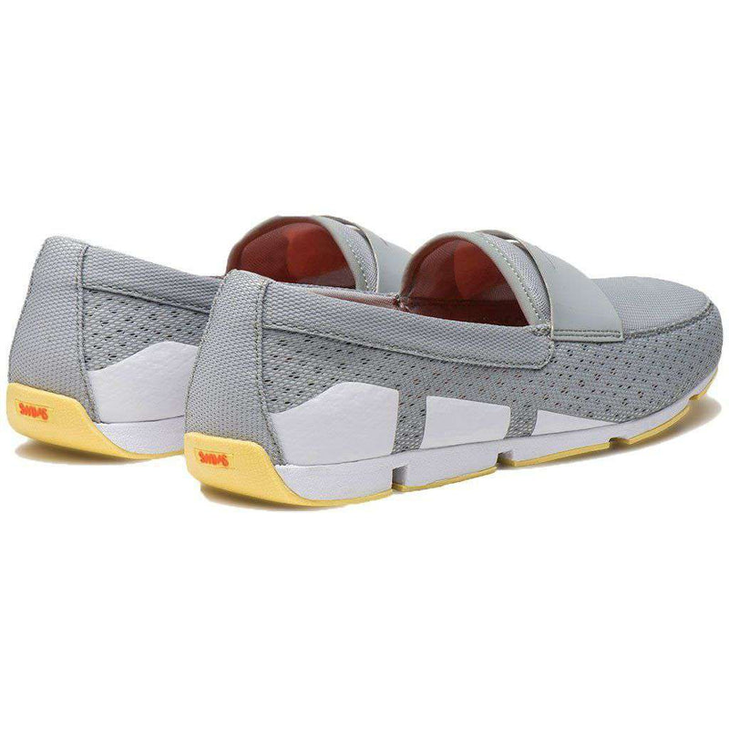 SWIMS Breeze Penny Loafer in Light Gray, White & Faded Lemon