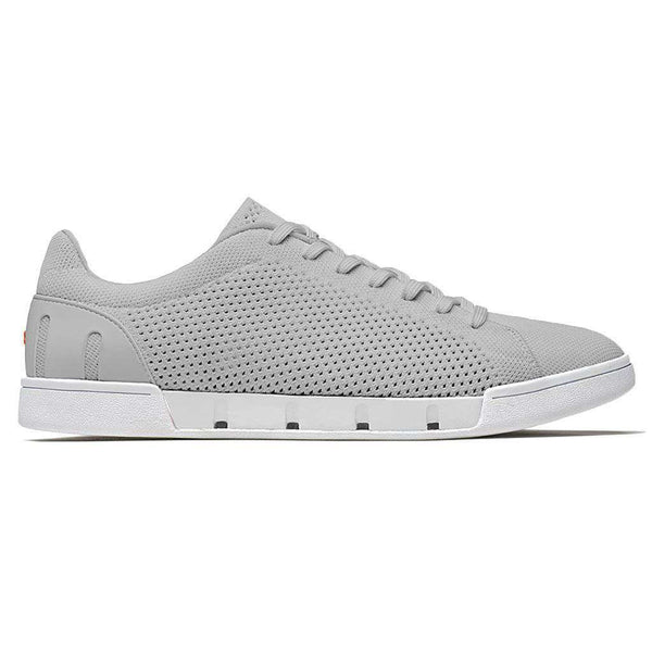 SWIMS Breeze Tennis Knit Sneaker in Light Grey & White