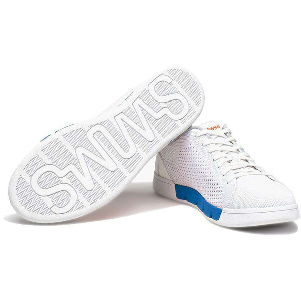 Men's Breeze Tennis Knit Sneaker in White & Blue Blitz by SWIMS