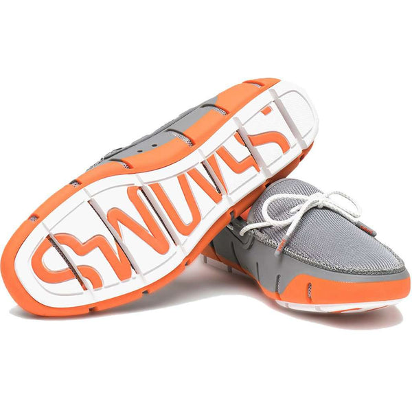 Stride Lace Loafer in Orange, Grey & White Fleck by SWIMS