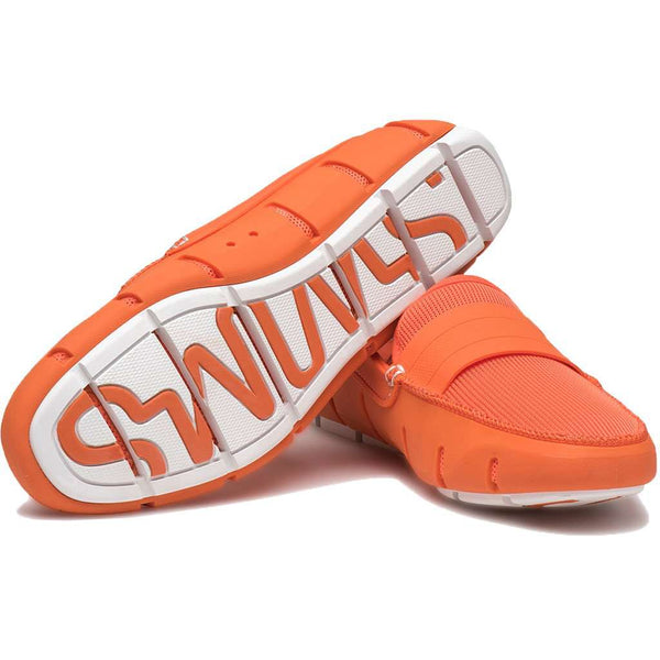 Men's Stride Single Band Keeper Loafer in Orange & White by SWIMS
