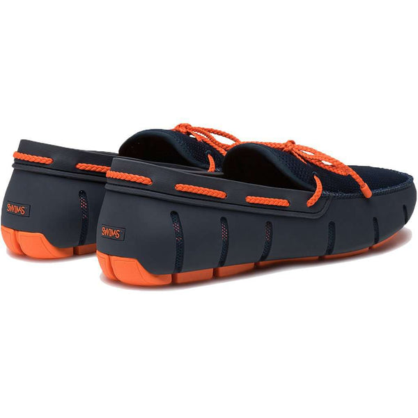 Men's Water Resistant Braided Lace Loafer in Navy & Orange by SWIMS - FINAL SALE