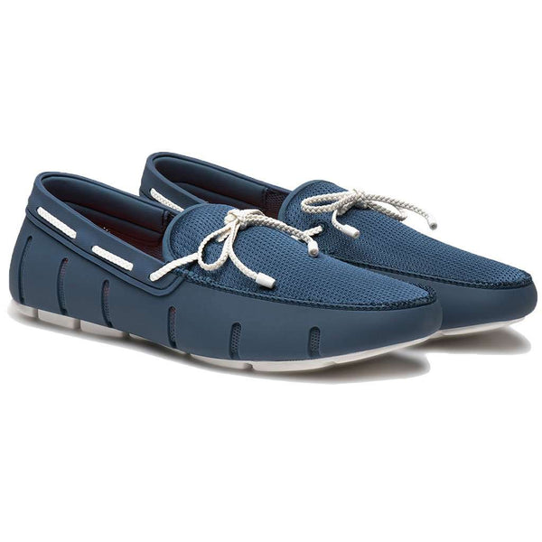 Water Resistant Braided Lace Loafer in Slate & White by SWIMS