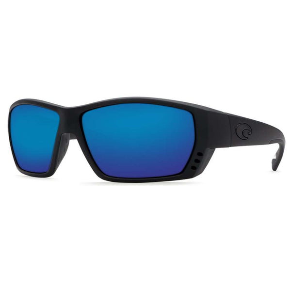 Tuna Alley Sunglasses in Blackout with Blue Mirror Polarized Glass Lenses by Costa del Mar