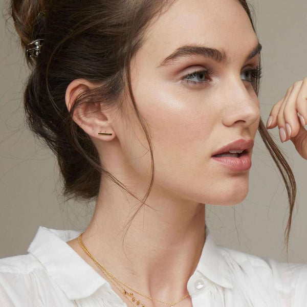 Gorjana Taner Mini Bar Stud Earrings by Gorjana